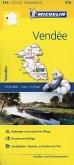 Michelin Karte Vendée; Loire-Atlantique, Vendée
