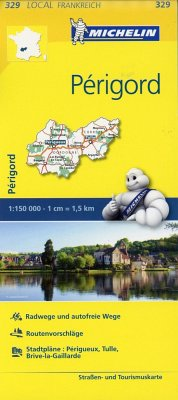 Michelin Karte Périgord; Corrèze, Dordogne