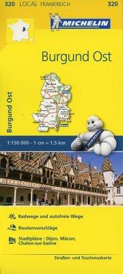 Michelin Karte Burgund Ost