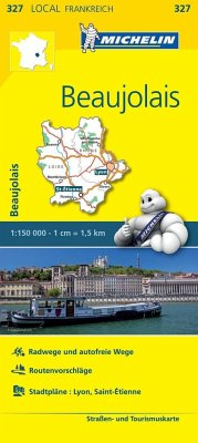 Michelin Karte Beaujolais; Loire, Rhone