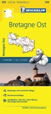 Michelin Karte Bretagne Ost