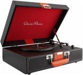 Classic Phono TT-33 Koffer-Plattenspieler im Retro-Stil, Kunstlederoberfläche