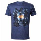 Halo T-Shirt -M- Chestprint, blau