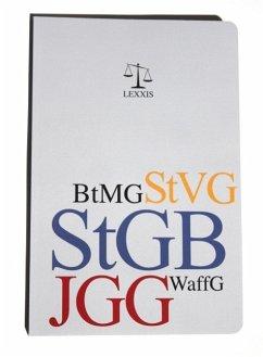 StGB (Strafgesetzbuch), EGStGB (Einführungsgesetz zum StGB), JGG (Jugendgerichtsgesetz), BtMG (Betäubungsmittelgesetz), WaffG (Waffengesetz)
