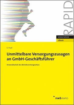Unmittelbare Versorgungszusagen an GmbH-Geschäftsführer (eBook, ePUB) - Pradl, Kevin