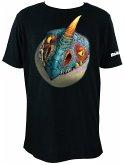 Kinder T-Shirt Dreamworks Dragons: Sturmpfeil / Stormfly Kopf - Gr. 9-10 Jahre