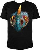 T-Shirt Dreamworks Dragons: Sturmpfeil / Stormfly Kopf - Gr. L
