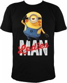 MINIONS T-Shirt, Ladies Man, schwarz, Gr. L