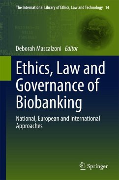 Ethics, Law and Governance of Biobanking (eBook, PDF)