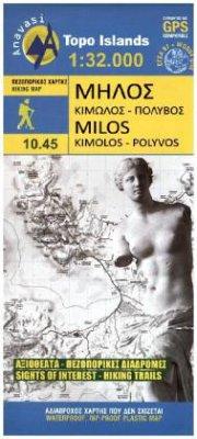 Hiking Map Wanderkarte Milos Kimolos - Polyvos