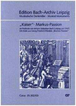 Markus-Passion, Klavierauszug - Bach, Johann Sebastian