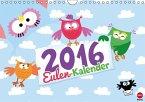 Eulen-Kalender Poster (Wandkalender 2016 DIN A4 quer)