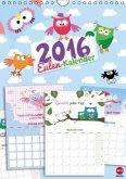Eulen-Kalender Planer (Wandkalender 2016 DIN A4 hoch)