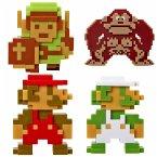 Nintendo Mini Figur (6cm) 5er Retro 8-Bit Pack W2