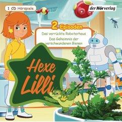 Hexe Lilli: Das verrückte Roboterhaus & Das Geheimnis der verschwundenen Bienen, 1 Audio-CD