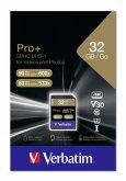 Verbatim SDHC Karte Pro+ 32GB Class 10 UHS-I