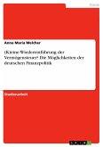 (K)eine Wiedereinführung der Vermögensteuer? Die Möglichkeiten der deutschen Finanzpolitik