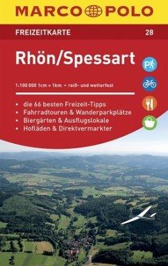 MARCO POLO Freizeitkarte Rhön, Spessart