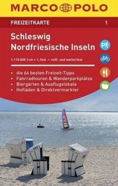 MARCO POLO Freizeitkarte Schleswig, Nordfriesische Inseln