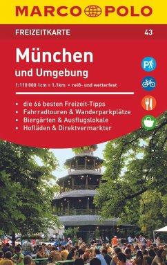 MARCO POLO Freizeitkarte München und Umgebung 1:110 000