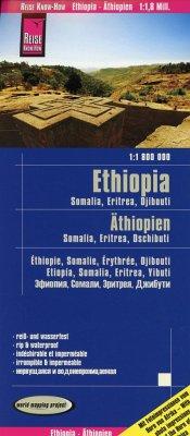 Reise Know-How Landkarte Äthiopien, Somalia, Eritrea, Dschibuti / Ethiopia, Somalia, Djibouti, Eritrea (1:1.800.000)