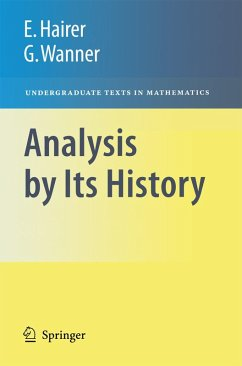 Analysis by Its History (eBook, PDF) - Hairer, Ernst; Wanner, Gerhard