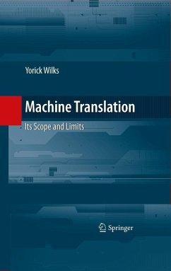 Machine Translation (eBook, PDF) - Wilks, Yorick