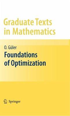 Foundations of Optimization (eBook, PDF) - Güler, Osman
