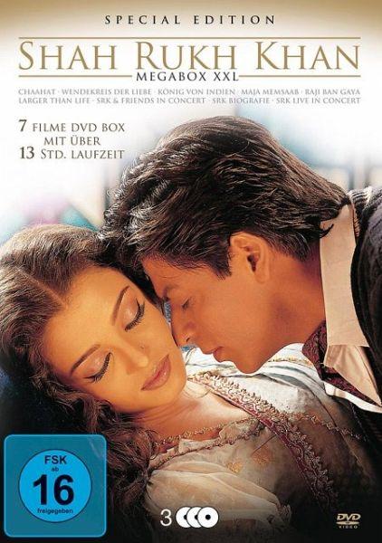 shahrukh khan megabox xxl premium edition 3 discs film auf dvd. Black Bedroom Furniture Sets. Home Design Ideas