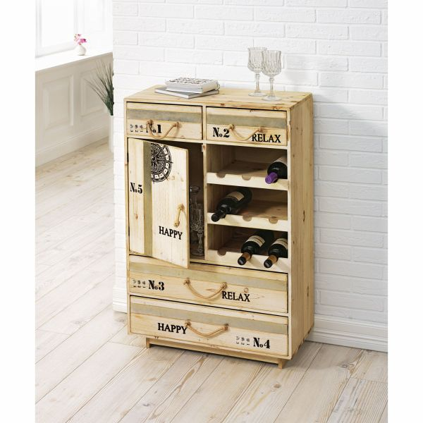 miavilla schrank relax mit weinregal wei. Black Bedroom Furniture Sets. Home Design Ideas