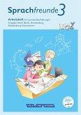 Sprachfreunde 3. Schuljahr. Arbeitsheft Schulausgangsschrift. Ausgabe Nord