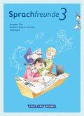 Sprachfreunde 3. Schuljahr. Sprachbuch mit Grammatiktafel und Lernentwicklungsheft. Ausgabe Süd
