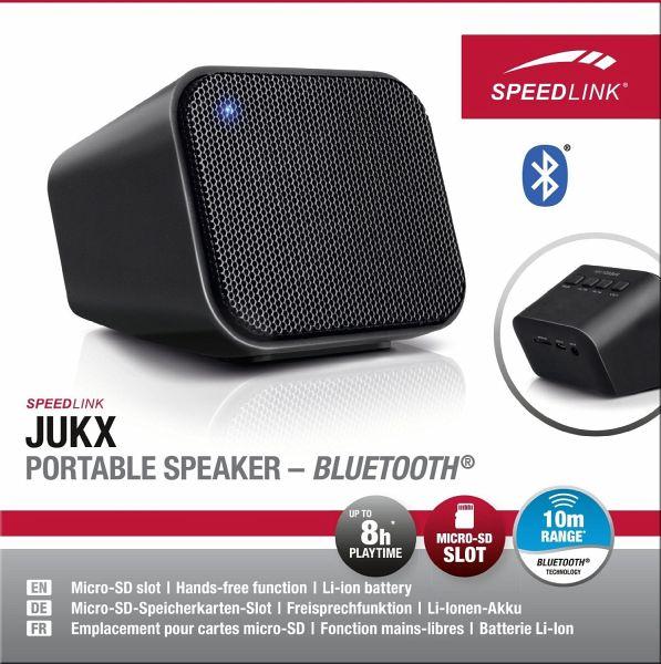 speedlink jukx portable stereo lautsprecher bluetooth schwarz. Black Bedroom Furniture Sets. Home Design Ideas