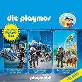 Die Playmos - Die große Polizisten-Box, 3 Audio-CDs