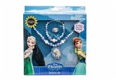 Disney 755782 - Frozen Set 3 teilig Schmuckset: Perlenarmband, Perlenhalskette und Ringset