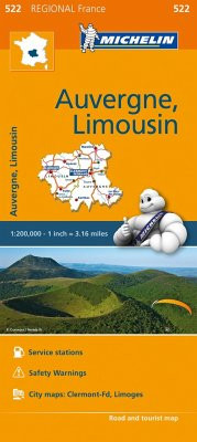 Auvergne Limousin - Michelin Regional Map 522 - Michelin Travel & Lifestyle