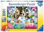 Ravensburger 10942 - Magische Feennacht, Puzzle, 100 Teile, XXL Format