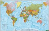 Wandkarte: The World XXL, international, Poster 1:20.000.000, Plano in Rolle