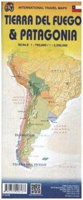 International Travel Map ITM Patagonia & Tierra Del Fuego Touristik Karte