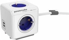 allocacoc PowerCube Extended USB inkl. 1,5 m Kabel blau Type F