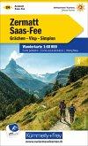 Kümmerly+Frey Karte Zermatt, Saas Fee Wanderkarte