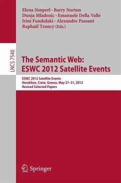 The Semantic Web: ESWC 2012 Satellite Events (eBook, PDF)