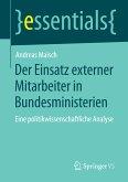 Der Einsatz externer Mitarbeiter in Bundesministerien (eBook, PDF)