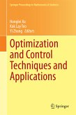 Optimization and Control Techniques and Applications (eBook, PDF)