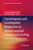 Psycholinguistic and Sociolinguistic Perspectives on Second Language Learning and Teaching (eBook, PDF)