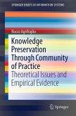 Knowledge Preservation Through Community of Practice (eBook, PDF)