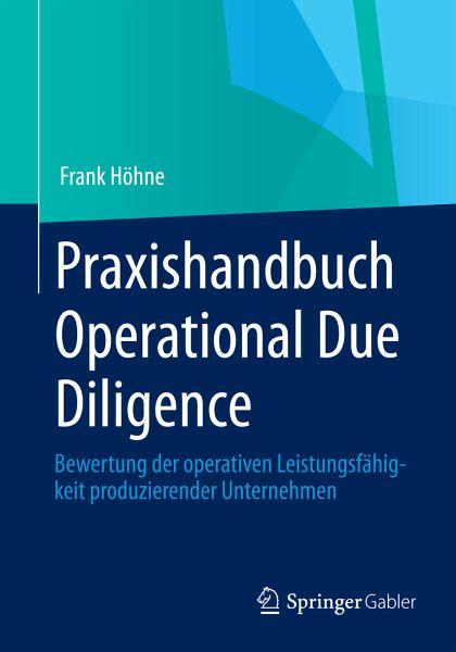 Praxishandbuch Operational Due Diligence (eBook, PDF) - Höhne, Frank