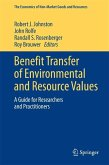 Benefit Transfer of Environmental and Resource Values (eBook, PDF)