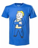 Fallout 4 T-Shirt -L- Boy Corssed Arms, blau