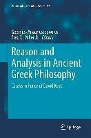 Reason and Analysis in Ancient Greek Philosophy (eBook, PDF)